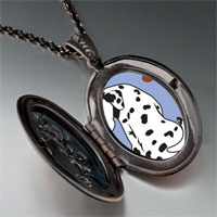 Necklace & Pendants - grin dalmatian dog pendant necklace Image.