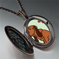 Necklace & Pendants - blood hound dog pendant necklace Image.