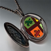 Necklace & Pendants - multicolored autumn leaves pendant necklace Image.