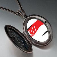 Necklace & Pendants - singapore flag pendant necklace Image.