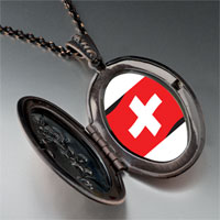 Necklace & Pendants - switzerland flag pendant necklace Image.