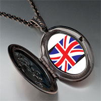 Necklace & Pendants - united kingdom flag pendant necklace Image.