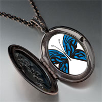 Necklace & Pendants - exotic blue butterfly pendant necklace Image.
