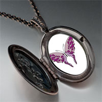 Necklace & Pendants - shades purple butterfly pendant necklace Image.