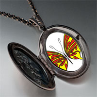 Necklace & Pendants - yellow red butterfly pendant necklace Image.
