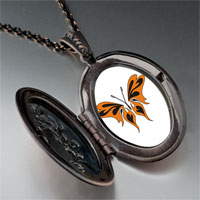 Necklace & Pendants - orange black butterfly pendant necklace Image.