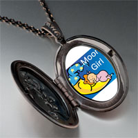 Necklace & Pendants - moon girl pendant necklace Image.