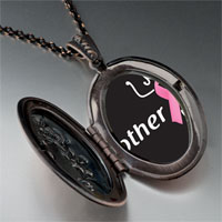 Necklace & Pendants - mother support pink ribbon pendant necklace Image.