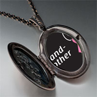 Necklace & Pendants - grandmother support pink ribbon pendant necklace Image.