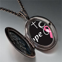 Necklace & Pendants - hope pink ribbon pendant necklace Image.