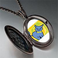 Necklace & Pendants - russian blue cat pendant necklace Image.