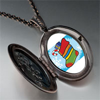 Necklace & Pendants - christmas jewelry christmas stocking snow pendant necklace Image.