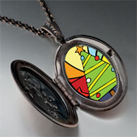 Necklace & Pendants - christmas necklace christmas tree gifts rainbow pendant necklace Image.