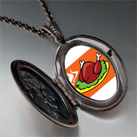 Necklace & Pendants - sizzling delicious turkey pendant necklace Image.
