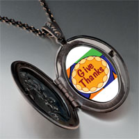 Necklace & Pendants - give thanks in thanksgiving pendant necklace Image.