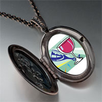 Necklace & Pendants - champagne drink celebration pendant necklace Image.