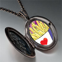 Necklace & Pendants - love french fries pendant necklace Image.