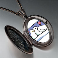 Necklace & Pendants - turtle doves photo storybook pendant necklace Image.
