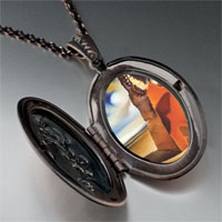 Necklace & Pendants - landscape butterflies painting pendant necklace Image.