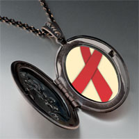 Necklace & Pendants - red ribbon awareness pendant necklace Image.