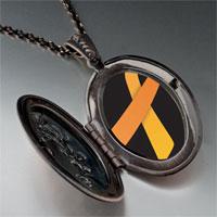 Necklace & Pendants - orange ribbon awareness pendant necklace Image.
