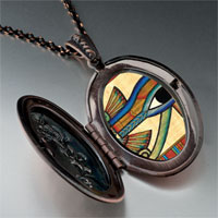 Necklace & Pendants - egyptian eye horus photo oval flower pendant gifts for women necklace Image.