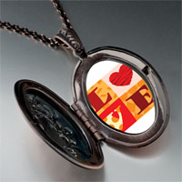 "Necklace & Pendants - valentine' s day  "" love""  photo italian pendant necklace Image."