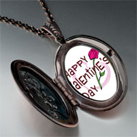 Necklace & Pendants - valentine' s day pink rose photo pendant necklace Image.