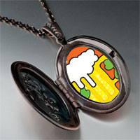 Necklace & Pendants - patrick' s day theme photo oval flower pendant shamrock beer gifts for women necklace Image.
