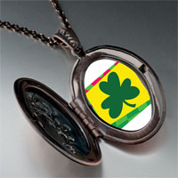 Necklace & Pendants - patrick' s day theme photo oval flower pendant shamrock gifts for women necklace Image.