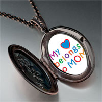 Necklace & Pendants - mother' s day theme photo oval flower pendant heart belongs for women necklace Image.