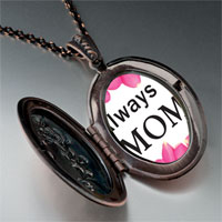 Necklace & Pendants - mother' s day theme photo oval flower pendant for women necklace Image.