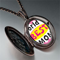 Necklace & Pendants - mother' s day theme photo oval flower pendant world' s best for women necklace Image.