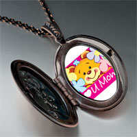 Necklace & Pendants - cartoon theme photo oval flower pendant i love for women necklace Image.