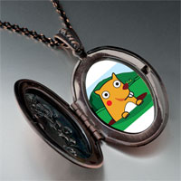 Necklace & Pendants - cartoon theme photo oval flower pendant groundhog day easter gifts for women necklace Image.