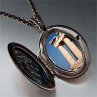 Necklace & Pendants - landmark greece photo pendant necklace Image.