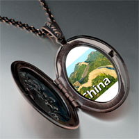Necklace & Pendants - travel the great wall photo pendant necklace Image.