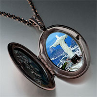 Necklace & Pendants - travel statue christ redeemer photo italian bracelet pendant necklace Image.