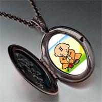 Necklace & Pendants - religion buddhism little monk photo pendant necklace Image.