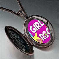 Necklace & Pendants - music theme girls rock photo pendant necklace Image.