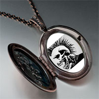 Necklace & Pendants - music theme horror halloween skull man photo pendant necklace Image.