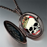 Necklace & Pendants - music theme halloween skull blood photo pendant necklace Image.