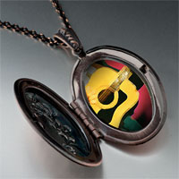 Necklace & Pendants - music theme guitar singer photo pendant necklace Image.