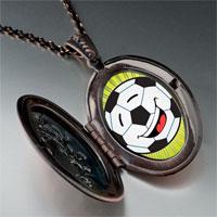 Necklace & Pendants - sports soccer photo pendant necklace Image.
