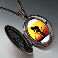 Necklace & Pendants - sports cyclocross photo pendant necklace Image.