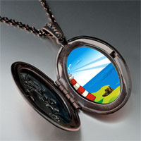 Necklace & Pendants - travel &  culture lighthouse photo pendant necklace Image.
