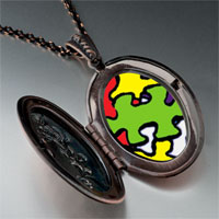 Necklace & Pendants - word autism photo pendant necklace Image.