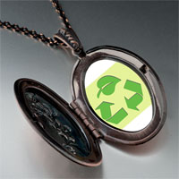 Necklace & Pendants - sign recycle photo pendant necklace Image.