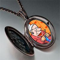Necklace & Pendants - knitting grandma photo italian pendant necklace Image.