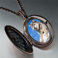 Necklace & Pendants - running wolf photo italian pendant necklace Image.